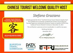 Chinese tourist welcome quality host
